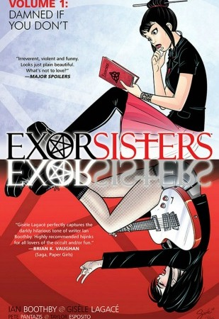 Exorsisters-Image-Comics-Ian-Boothby-Gisèle-Lagacé-Pete-Pantazis-Taylor-Esposito-comic-books-book-review-horror-comedy-demon-twin-sisters-exorcism-comics